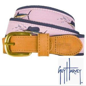 Guy Harvey Unisex Offshore Slam Belt- Pink sz 34